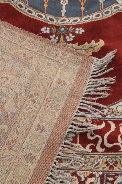 Large Vintage Oriental Rug Fringed Prayer Rug Pattern
