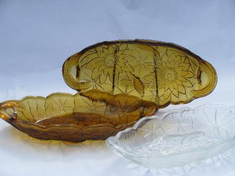 vintage glass relish trays