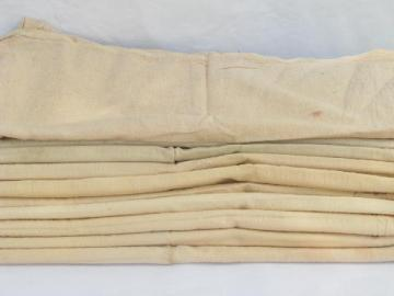 lot 10 old feed sack bags, vintage homespun cotton fabric grain sacks, faded red