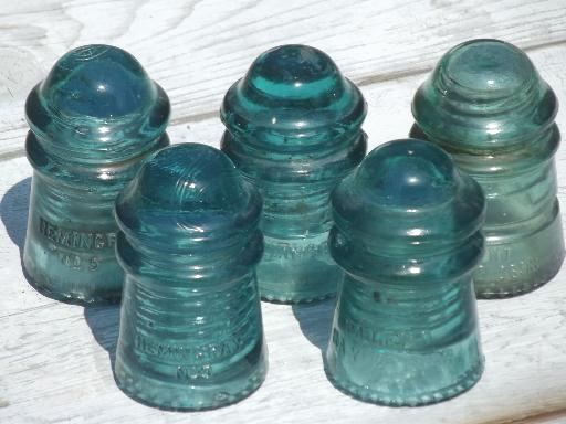 dating glass insulators 4 an assortment of aqua hemingray-40 (cd 152) and hemingray-42 (cd 154) glass insulators (circa 1910-1959) with both sharp and round drip points.