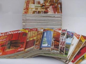 lot 24 back issues Art & Decoration - France, French home magazines
