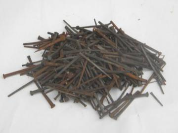 lot 3 lbs of assorted old & antique rusty square cut nails