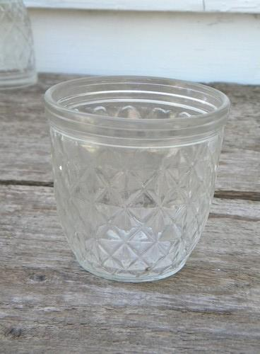 lot 4 vintage Ball Quilted Crystal jelly jars for jam and preserves : quilted jars - Adamdwight.com