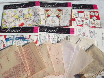 lot 40s, 50s, 60s embroidery transfers, 1,000s of designs for vintage sewing