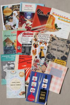 lot 40s 50s 60s vintage cookbooks & recipe booklets, advertising cook books etc.