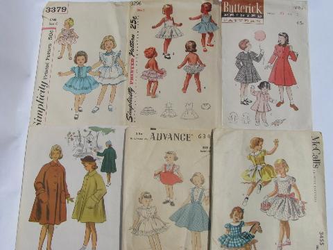 lot 50s vintage heirloom sewing patterns, infant layettes, girls dresses