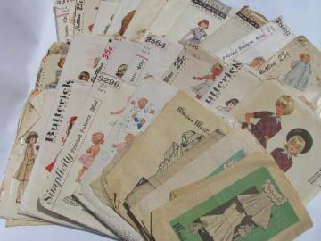 lot 50s vintage heirloom sewing patterns, infant layettes, girls dresses