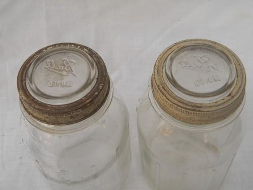 lot Ball quart mason storage jars, hoosier vintage kitchen canisters