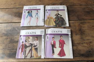 lot McCalls Craft sewing patterns, doll clothes for Tyler Wentworth 16 inch fashion doll