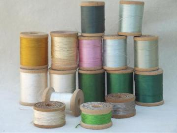 lot antique & vintage fine pure silk embroidery sewing thread, jewel colors