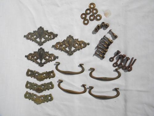 lot antique french rococo brass hardware drawer pulls restoration parts antique hardware furniture pulls