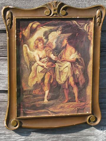 lot antique gold ornate florentine picture frames, old and vintage ...