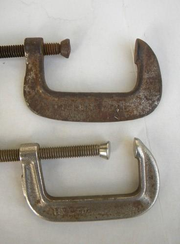 lot antique & vintage carpentry tools clamps Armstrong w/forge mark