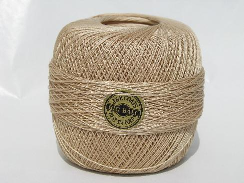 Lot Antique Vintage Crochet Thread W Old Labels Sz 20 Ecru Cotton