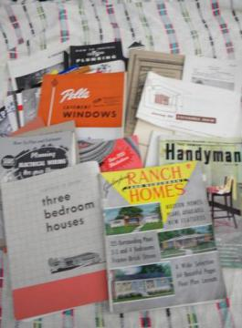lot assorted old 1950s building and architectural booklets and advertising