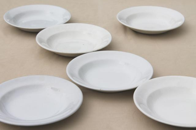 Lot Assorted Old Antique White Ironstone China Soup Bowl Plates All English Makers Marks & Antique Tableware Marks u0026 Four Royal Vienna-Style Plates