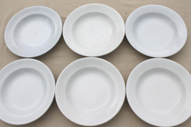 Lot Assorted Old Antique White Ironstone China Soup Bowl