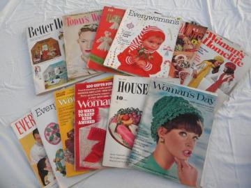lot assorted vintage women's/home magazines vintage and retro advertising