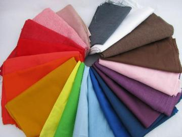 lot cotton / blend fabric, quilting solids, all colors