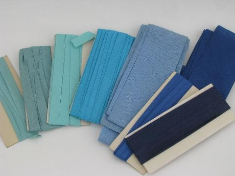 lot cotton seam tape and quilt binding, vintage sewing trim, all colors!