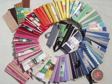 lot cotton seam tape & quilt  binding, vintage sewing trim, all colors!