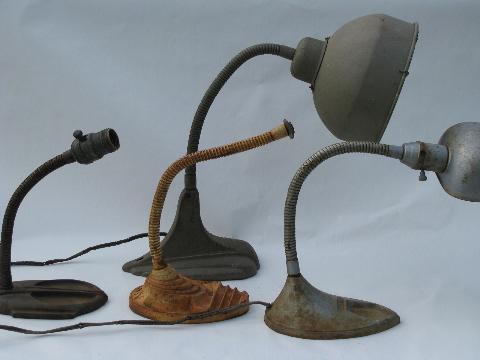 - Lot Deco Industrial Machine Age Desk Light / Lamp Parts