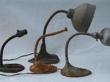 lot deco industrial machine age desk light / lamp parts