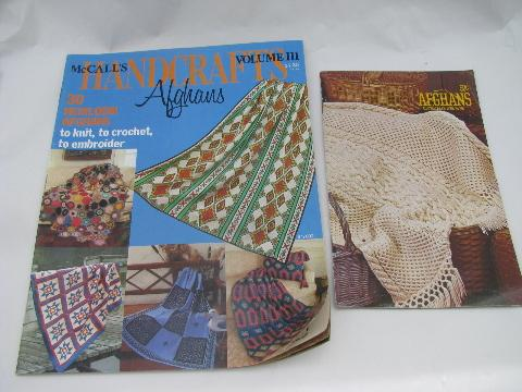 lot knitting / crochet pattern booklets, afghan - baby blanket patterns