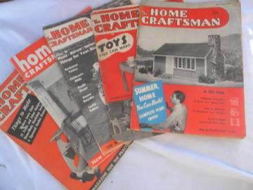 lot mid century Home Craftsman magazines w/ projects and advertising
