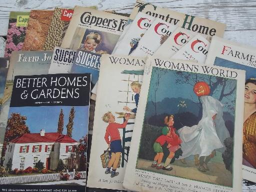 lot of 16 1930s and 40s vintage farmer, country home and farm wife magazines