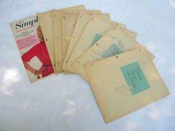 lot of 1950s vintage Singer home sewing instruction booklets w/illustrations