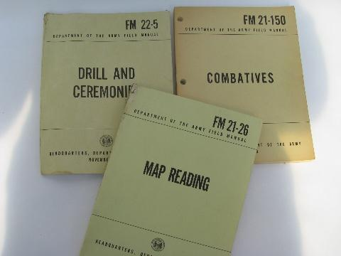 lot of 1960s vietnam vintage us army field manuals combat drill rh laurelleaffarm com Army Combatives Level 1 Army Combatives Level 1