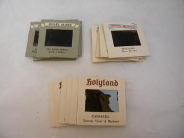 lot of 1960s/1970s vintage professional photo slides of Israel