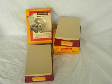 lot of 2 new old stock Kodaslide compartment files for slide storage