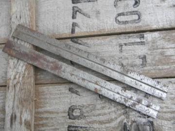 lot of 2 old industrial steel tool rulers 1/8'',1/16'' & 1/32''