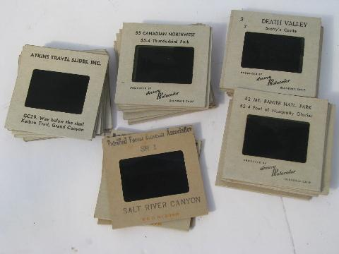 lot of 33 vintage commercial slides, photos of National Parks