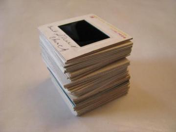 lot of 35 vintage 35mm photo slides San Francisco, Statue of Liberty, London, Eiffel Tower