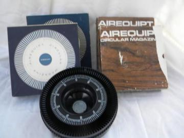 lot of 4 vintage Airequipt rotary/circular slide trays/magazines