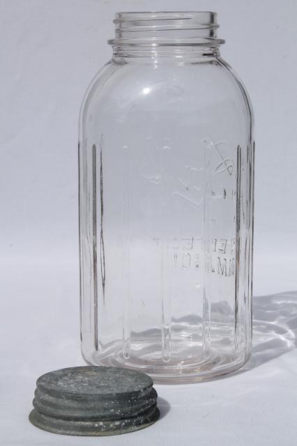 Lot Of 4 Vintage Two Quart Ball Perfect Mason Jars W