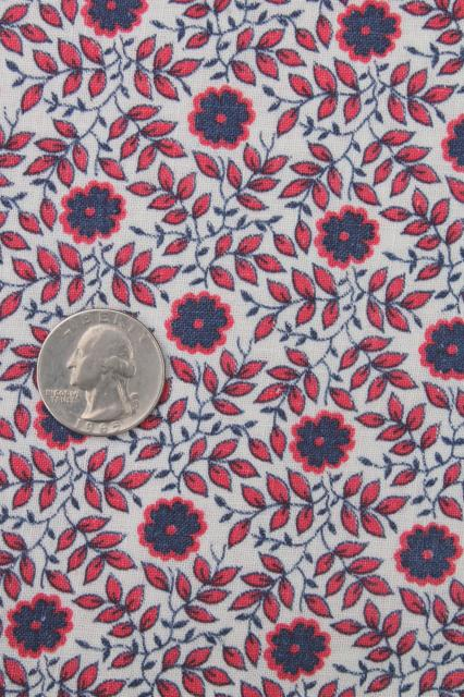 Lot Of 40s Vintage Scrap Fabric Quilting Print Cotton