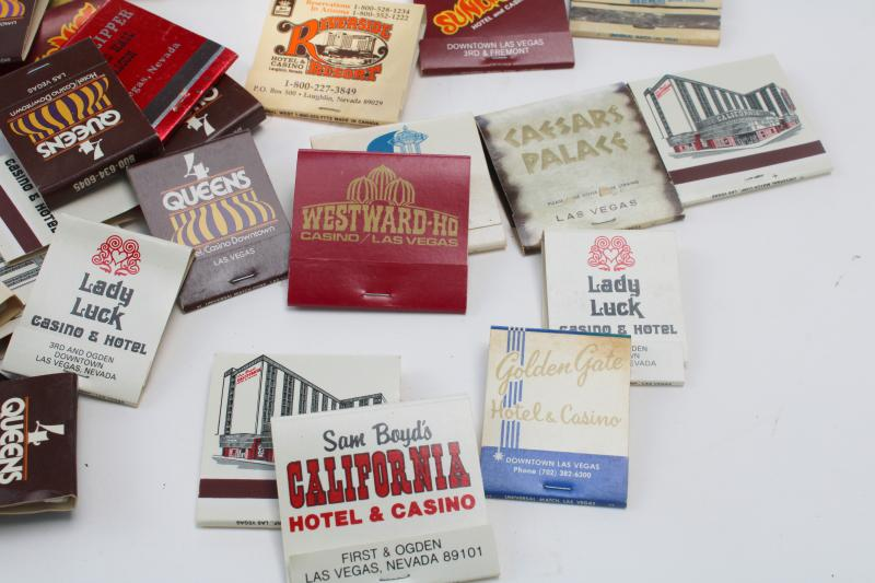 lot of 50+ vintage matchbooks, Las Vegas advertising matches collection