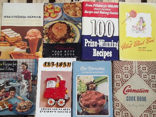 lot of 90+ vintage cookbooks and recipe leaflets