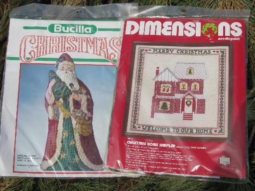 Lot Of Christmas Needlework Kits Needlepoint Stockings Christmas