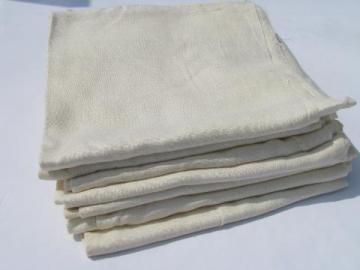 lot of WWII vintage feed sack bags, vintage rayon / cotton fabric flour sacks