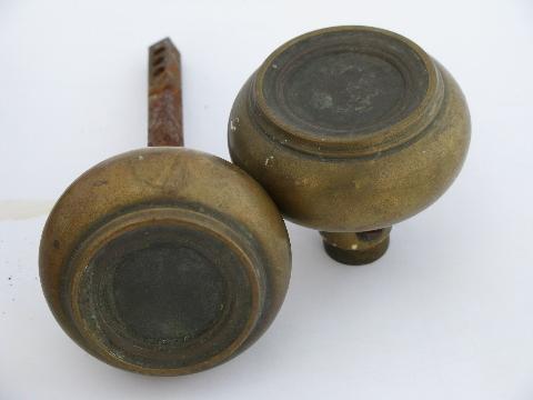 of antique arts and crafts vintage solid brass/bronze door knobs ...