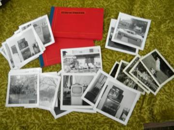 lot of assorted 1940s/1950s black and white photos, people, TVs etc