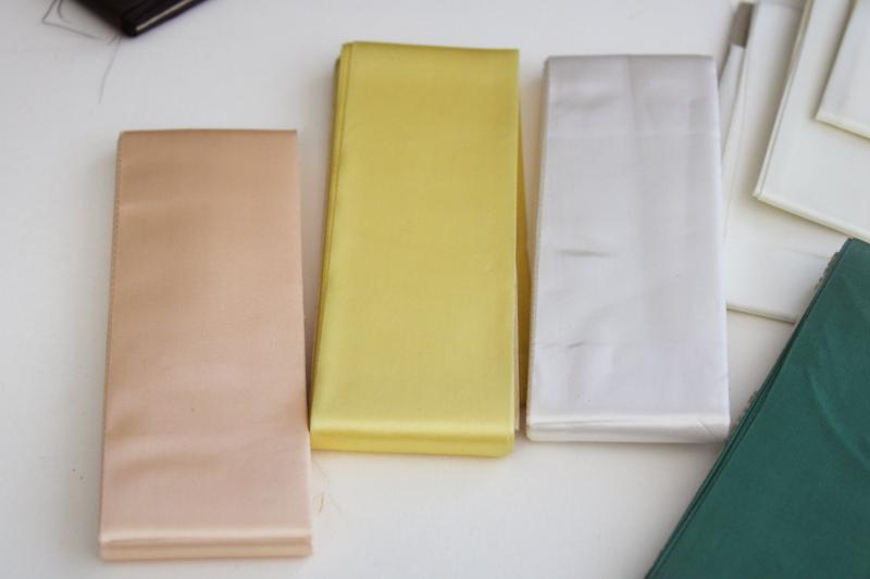 lot of assorted colors vintage blanket binding for camp blankets or bedding