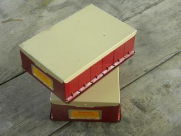 lot of mid century Kodaslide compartment files/photo slide cases