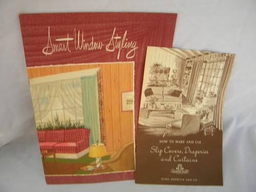 lot of mid century booklets/catalogs on curtains, drapes and slip covers