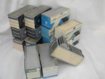 lot of mid century vintage aluminum Airequipt 2 inch slide tray